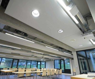 Open space plus agréable et luminaires intégrés