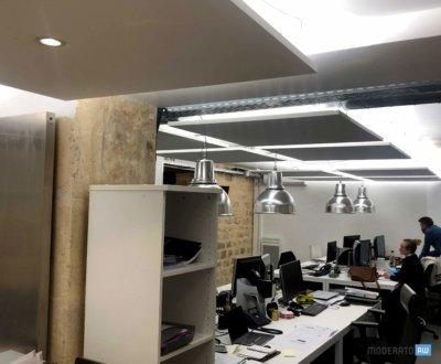 Intégration des luminaires dans panneau acoustique