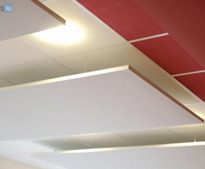 Panneaux acoustiques sur faux plafond