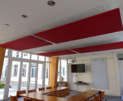 Salle de réunion colorée