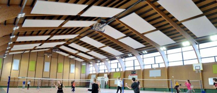 panneaux acoustiques gymnase