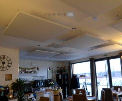 traitement de correction acoustique pour restaurants