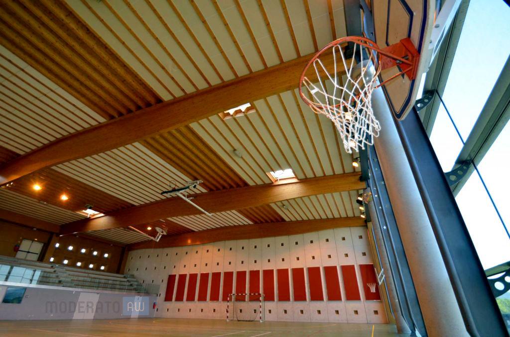 exemple de traitement acoustique dans une salle de sport