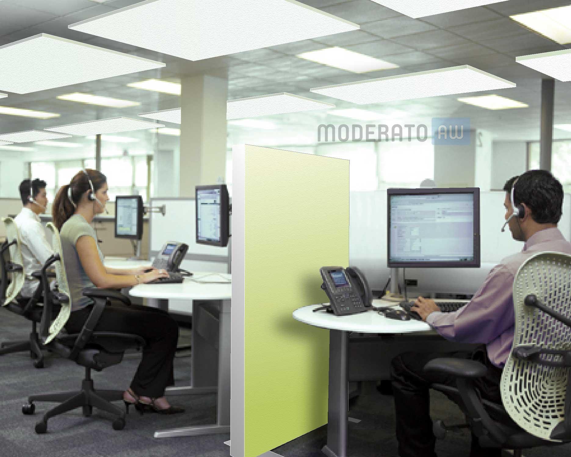 isolation acoustique centre d'appels