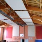 Panneaux acoustiques grandes dimensions pour gymnases