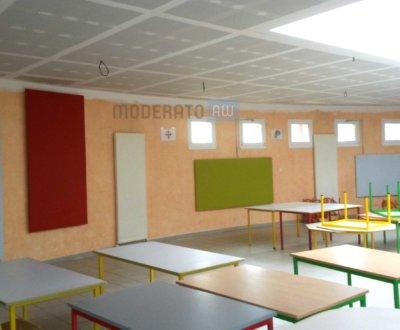 Panneaux acoustiques muraux pour salles de sports