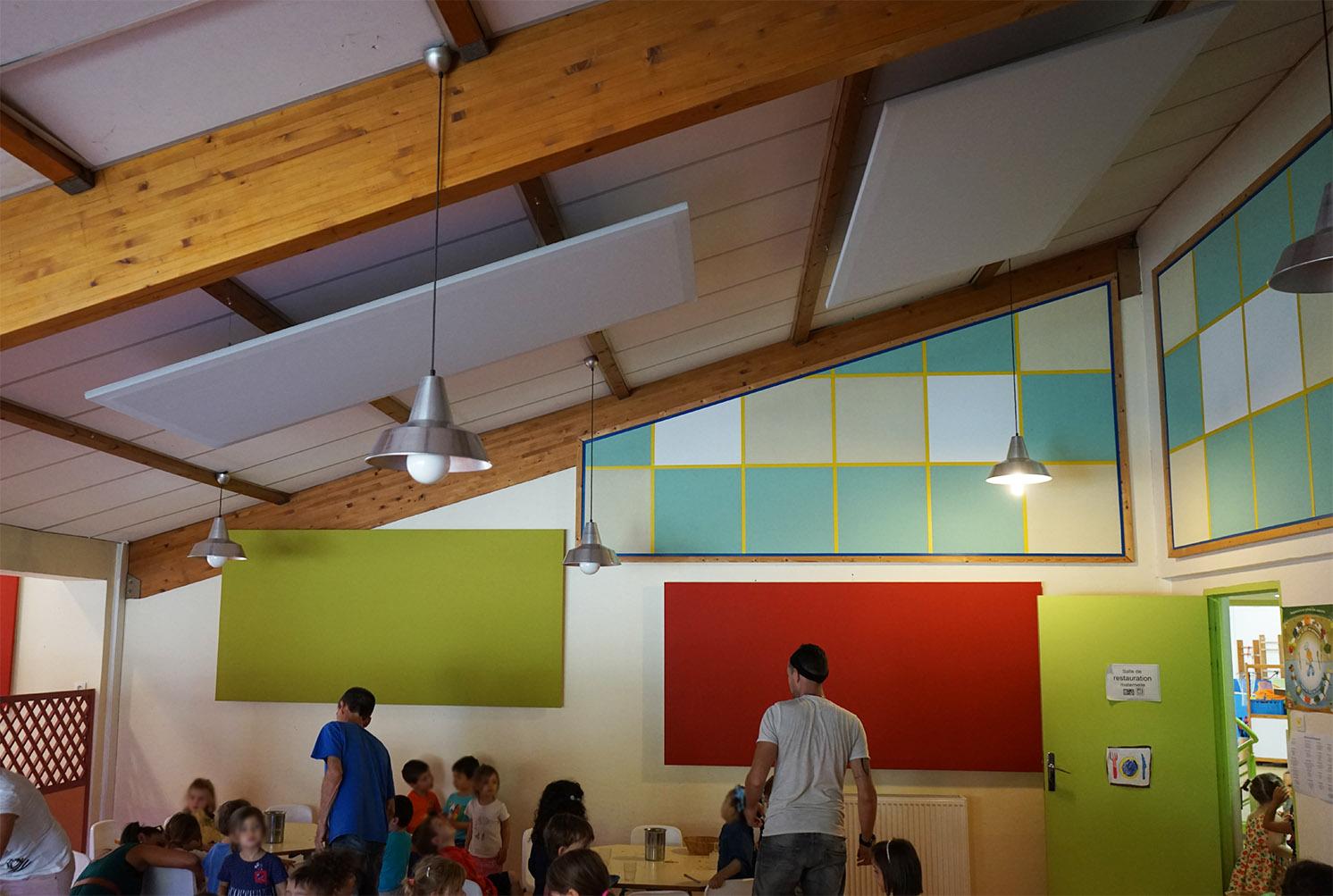 le groupe scolaire de ramonville s quipe de panneaux acoustiques. Black Bedroom Furniture Sets. Home Design Ideas