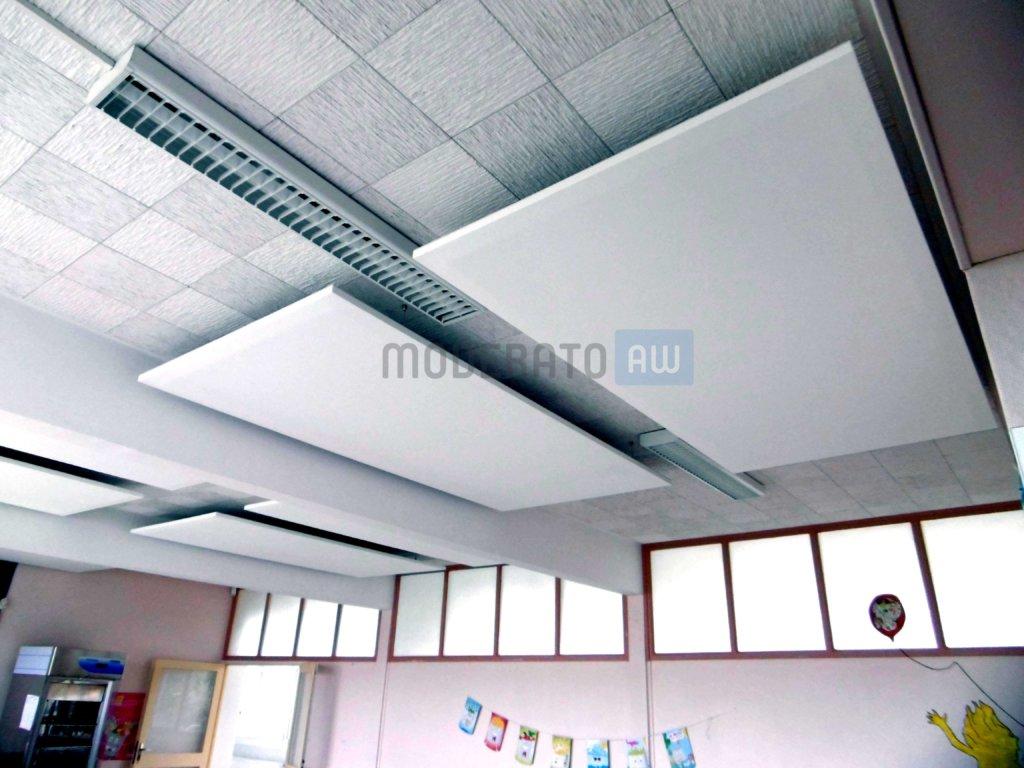 panneaux acoustiques suspendus au faux plafond moderato. Black Bedroom Furniture Sets. Home Design Ideas