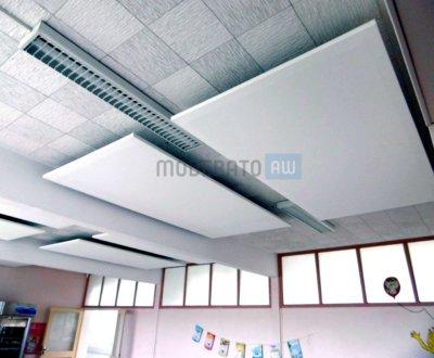 Panneaux acoustiques suspendus au faux-plafond
